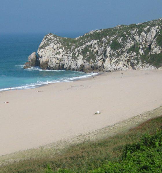 Playa de Usgo en Cantabria