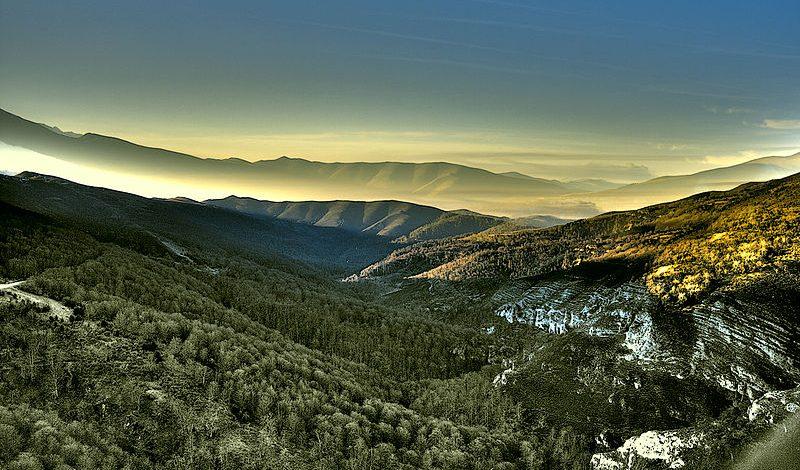 Parque natural del Saja-Besaya en Cantabria